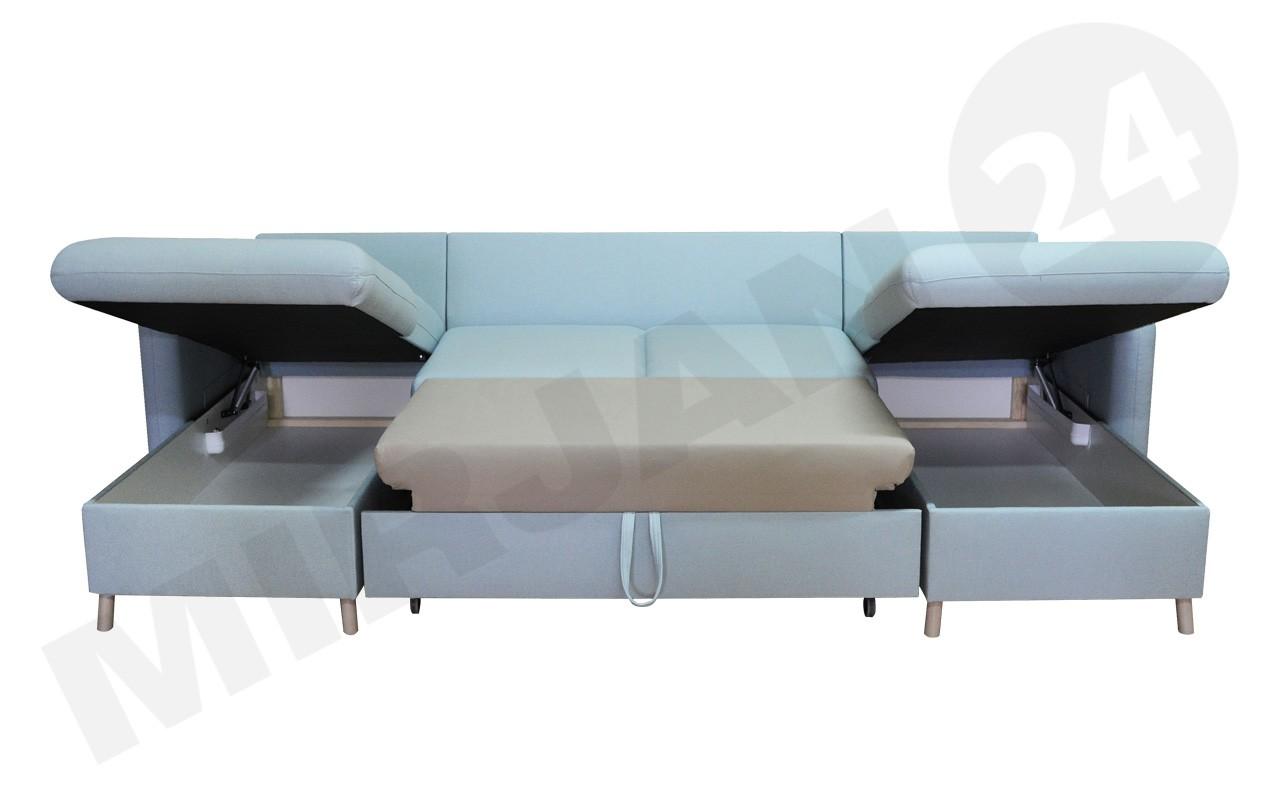 ecksofa puro mit zwei bettkasten und schlaffunktion mirjan24. Black Bedroom Furniture Sets. Home Design Ideas