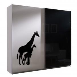 Kleiderschrank Look 4 mit Giraffenmuster