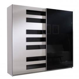 Kleiderschrank Look 5 mit Pianomuster