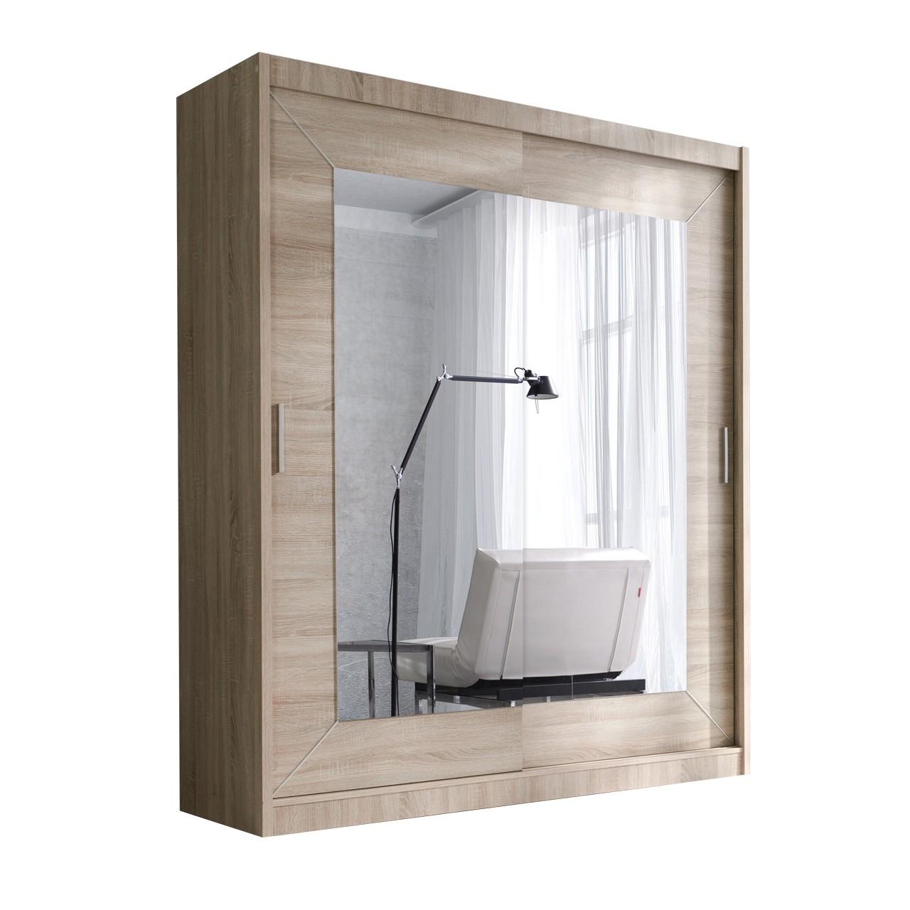 kleiderschrank mit spiegel kleiderschrank wei schwarz mit. Black Bedroom Furniture Sets. Home Design Ideas