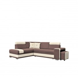 Ecksofa Roma + Hocker mit Bettfunktion