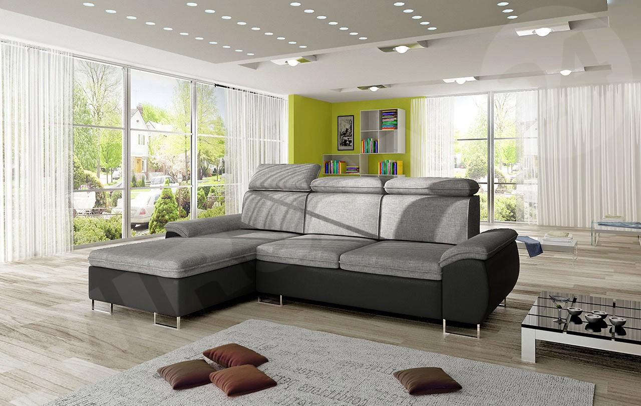 ecksofa chester mit schlaffunktion und bettkasten mirjan24. Black Bedroom Furniture Sets. Home Design Ideas