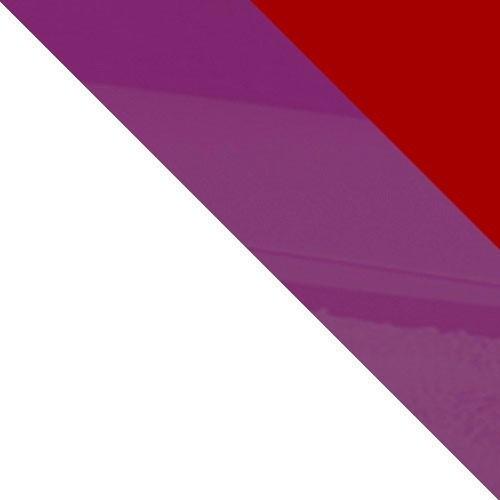weiß / rot Hochglanz + violett Hochglanz