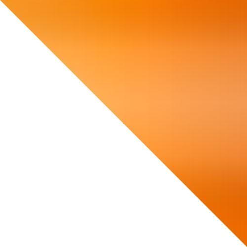 weiß / orange Hochglanz