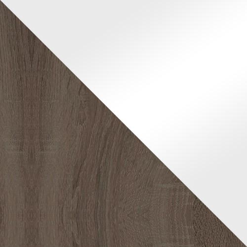 trüffel / weiß Hochglanz