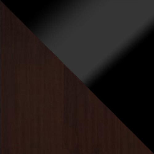 wenge / schwarz Hochglanz