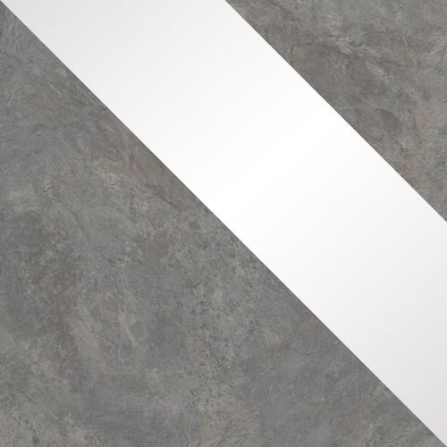 buntschiefer / weiß Hochglanz