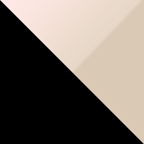 schwarz / creme Hochglanz