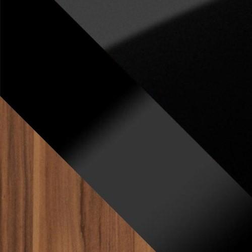 pflaume / schwarz Hochglanz + schwarz glas