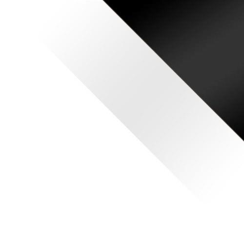 weiß / weiß Hochglanz + schwarz glas