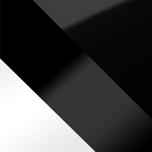 weiß / schwarz Hochglanz + schwarz glas