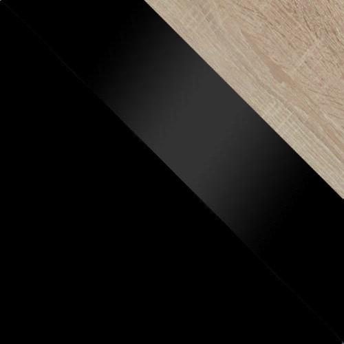 schwarz / schwarz Hochglanz + eiche sonoma