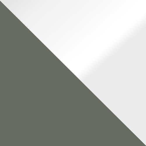 grau / weiß Hochglanz