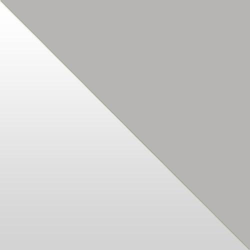 weiß Hochglanz / grau