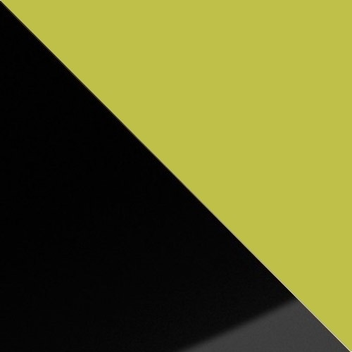 schwarz Hochglanz / grün