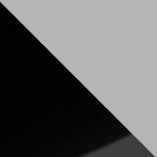 schwarz Hochglanz / grau