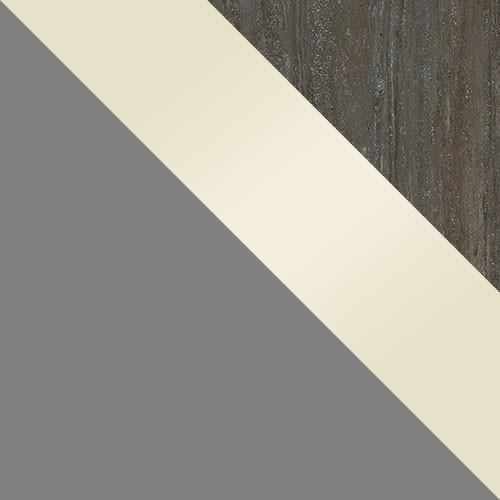 grau / creme Hochglanz / Platte Travertin