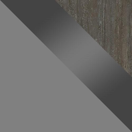 grau / grau Hochglanz / Platte Travertin