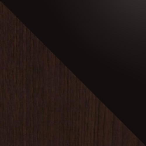 Wenge / schwarz Glas