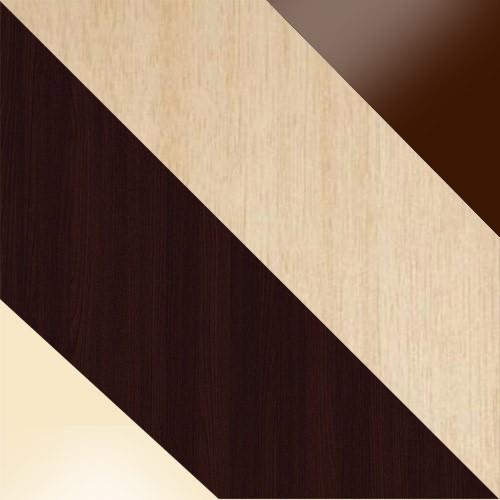 wenge / vanille glas + milchig eiche / glas bronze