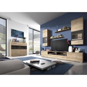 Wohnzimmer-Set Sarah 09 mit Kommode 45