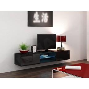 Hänge Lowboard-TV Vigo Glas 180