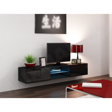 h nge lowboard tv vigo glas 180 mirjan24. Black Bedroom Furniture Sets. Home Design Ideas