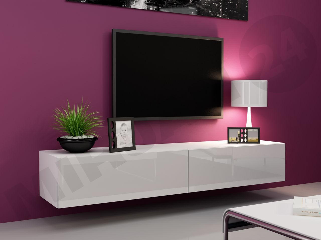 Tv lowboard hängend schwarz  Hänge Lowboard-TV Vigo 180 - Mirjan24