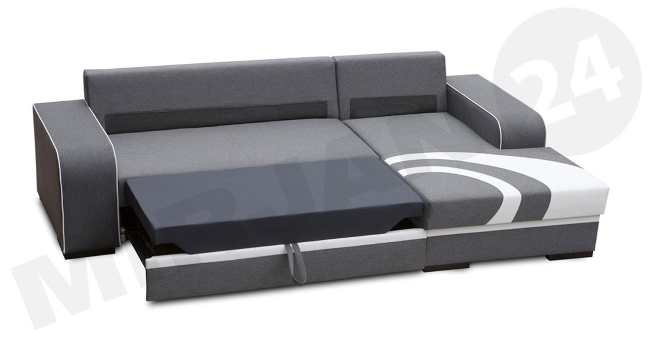 ecksofa reslo mit schlaffunktion und bettkasten mirjan24. Black Bedroom Furniture Sets. Home Design Ideas