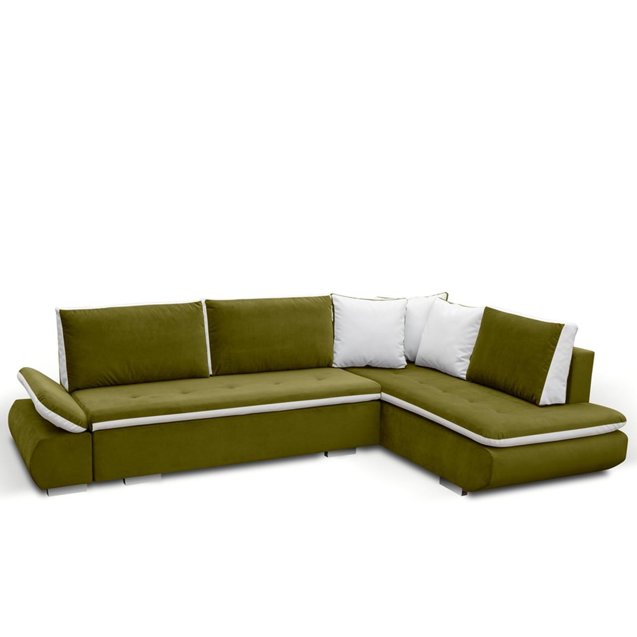 ecksofa notrus mit schlaffunktion und bettkasten mirjan24. Black Bedroom Furniture Sets. Home Design Ideas