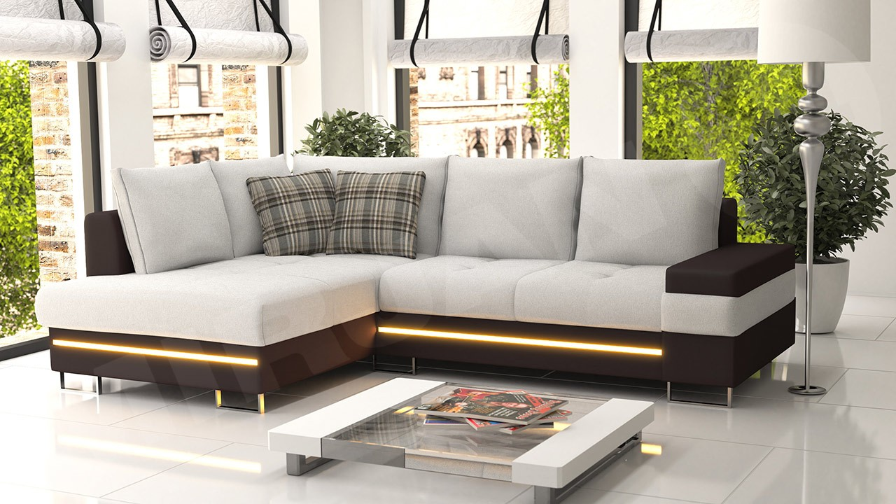 ecksofa neli mit led beleuchtung mirjan24. Black Bedroom Furniture Sets. Home Design Ideas