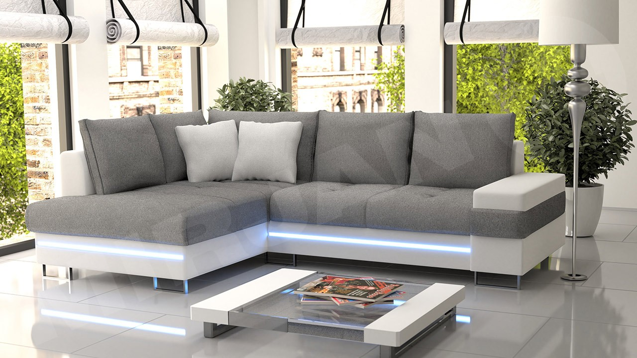 ecksofa mit led beleuchtung ecksofa light up mit rgb led. Black Bedroom Furniture Sets. Home Design Ideas