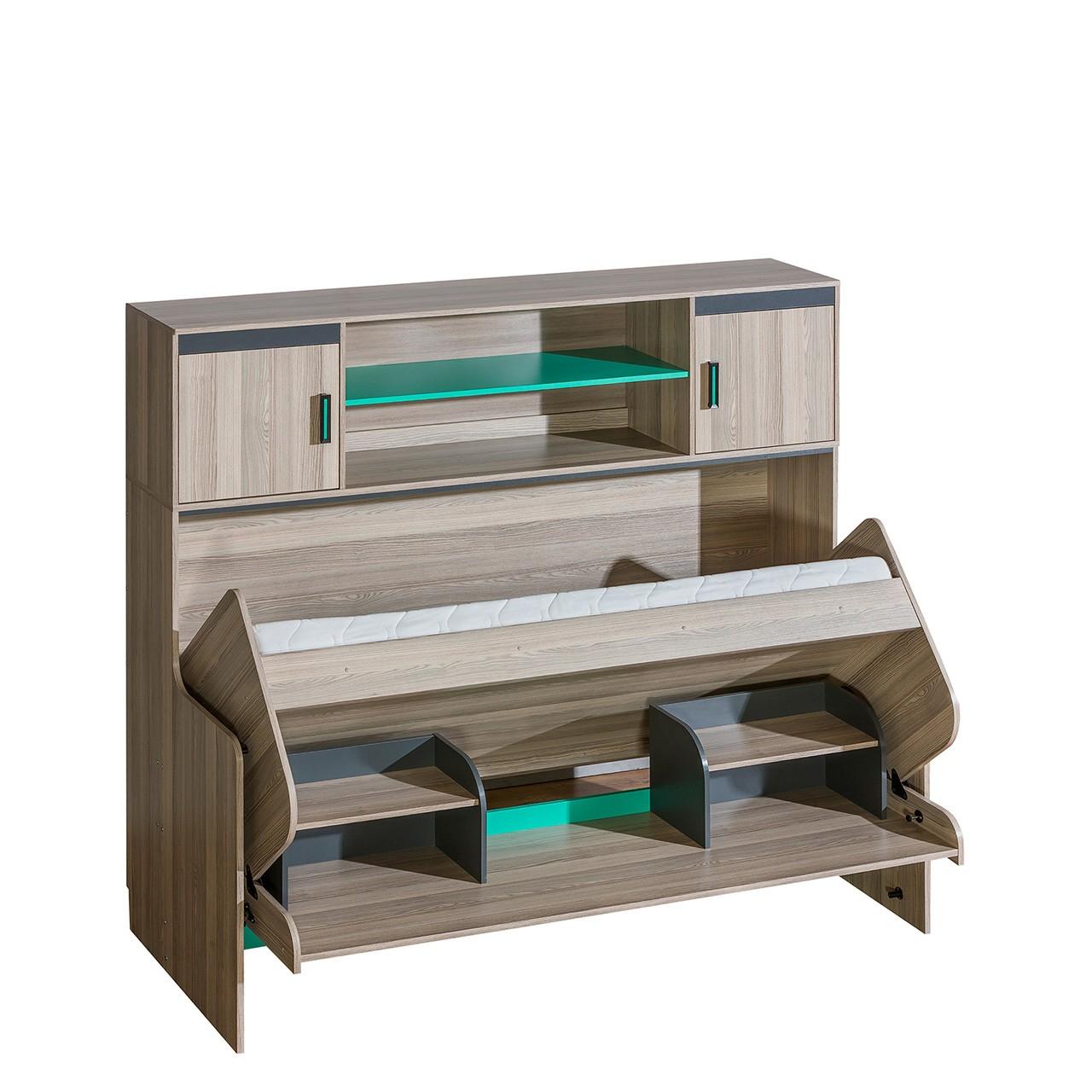jugendbett und schreibtisch mit aufsatz numinos mirjan24. Black Bedroom Furniture Sets. Home Design Ideas