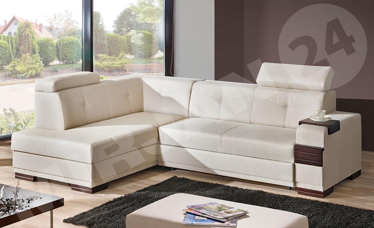 ecksofa golit mit schlaffunktion und bettkasten mirjan24. Black Bedroom Furniture Sets. Home Design Ideas