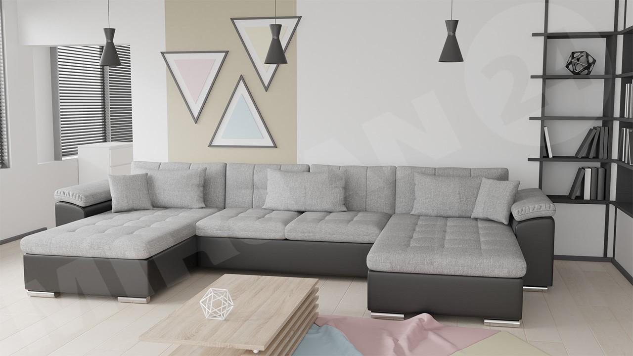 ecksofa wicenza bris mit schlaffunktion mirjan24. Black Bedroom Furniture Sets. Home Design Ideas