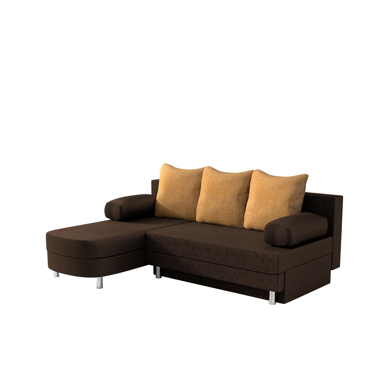 ecksofa molly sale mit schlaffunktion und bettkasten mirjan24. Black Bedroom Furniture Sets. Home Design Ideas