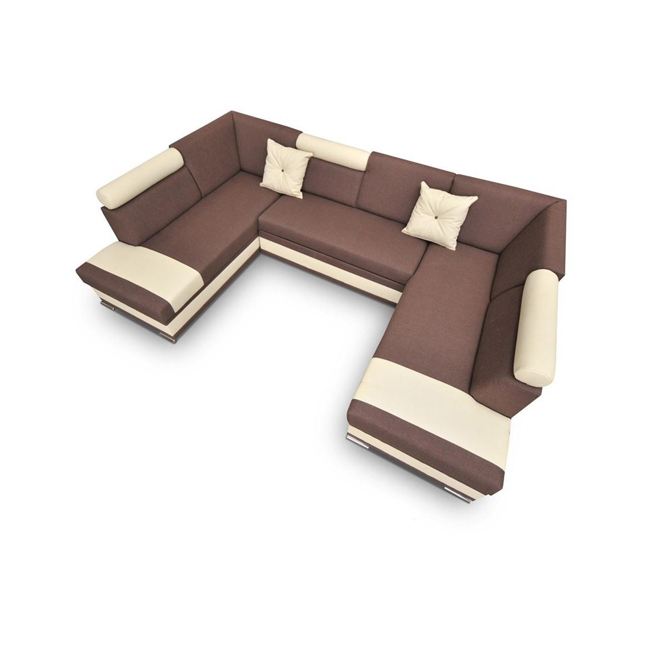 wohnlandschaft roma u mit schlaffunktion und bettkasten. Black Bedroom Furniture Sets. Home Design Ideas