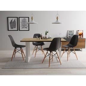 Essgruppe: Tisch Scarlett 160 + 4 Stühle Betty (5-teilig)
