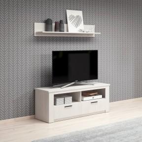 TV-Lowboard mit Wandregal Rosa RS03 + RS04