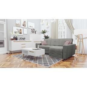 Wohnzimmer-Set Nirus IV + Ecksofa Bary