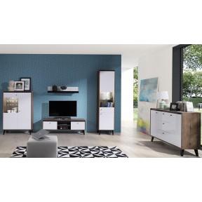 Wohnzimmer-Set Naviedo Gloss IV