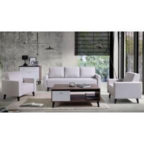 Wohnzimmer-Set mit Sofa Naviedo Gloss II