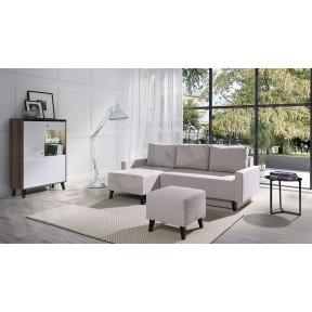 Wohnzimmer-Set mit Ecksofa Naviedo Gloss IV
