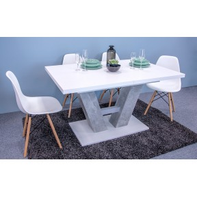 Essgruppe: Tisch Concrete + 4x Stuhle Betty