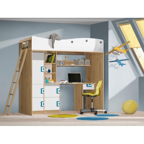 Jugendbett mit Schreibtisch Niczi