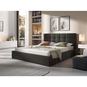 Polsterbett Minti mit Bettkasten und Lattenrost aus Metall