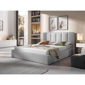 Polsterbett Werbena mit Bettkasten und Lattenrost aus Holz