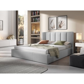 Polsterbett Werbena mit Bettkasten und Lattenrost aus Metall
