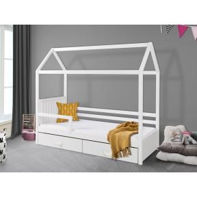 Jugendbett mit Geländer Pieris II 80