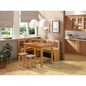 Eckbank + Tisch und zwei Hocker Soter